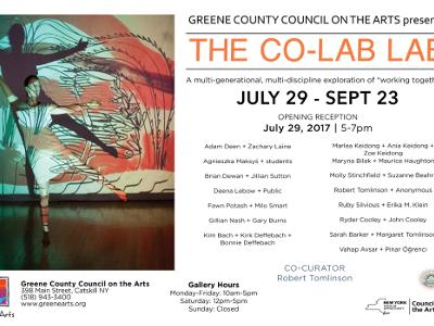 The Co-Lab Lab - group exhibition- GCCA gallery, Catskill, NY, USA, 2017